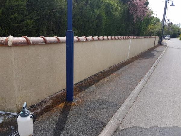 mur propre nettoyé par couvreur