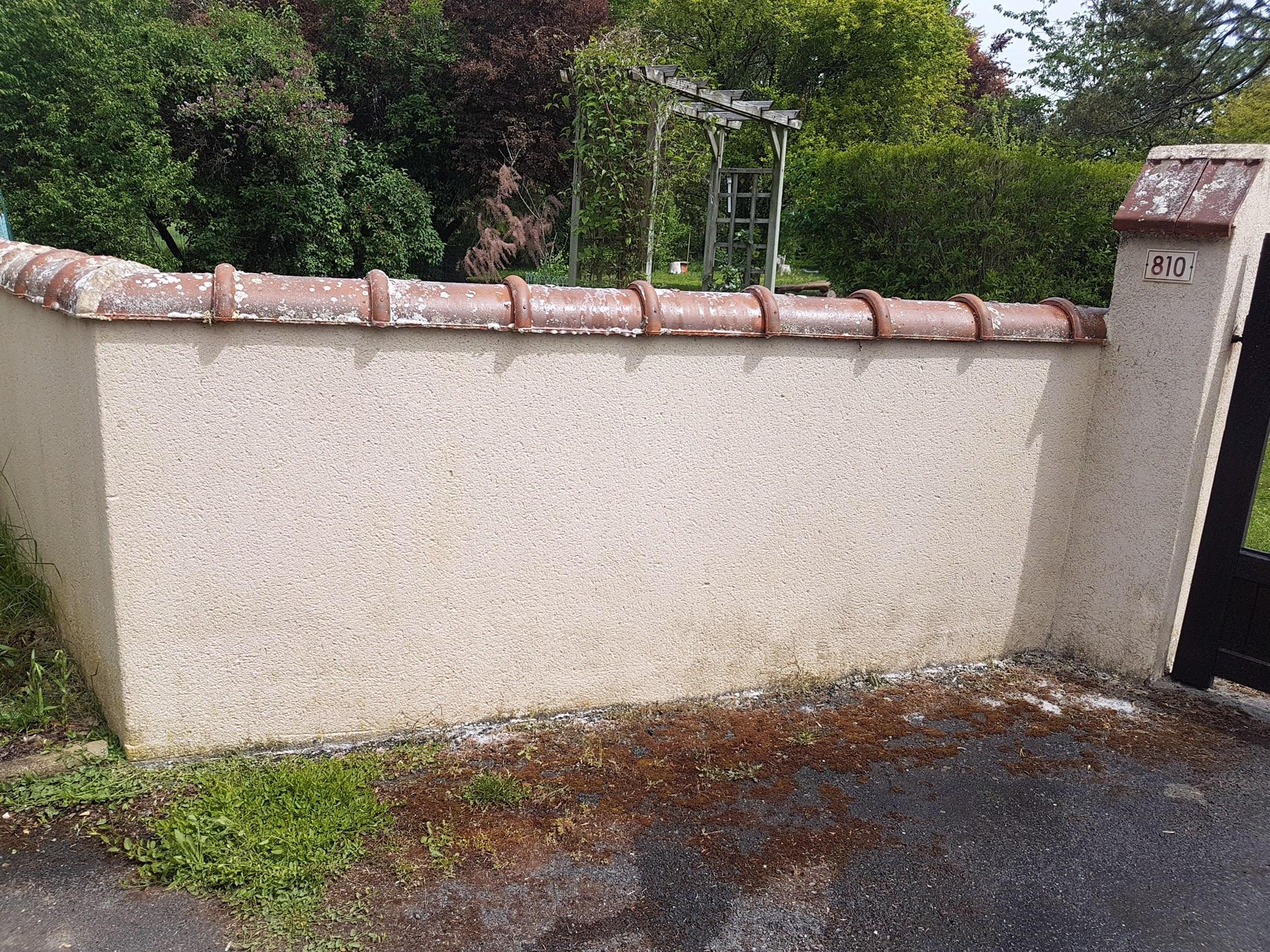 mur après traitement par couvreur