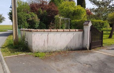 mur sale avant nettoyage couvreur
