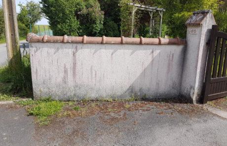mur avant nettoyage couvreur