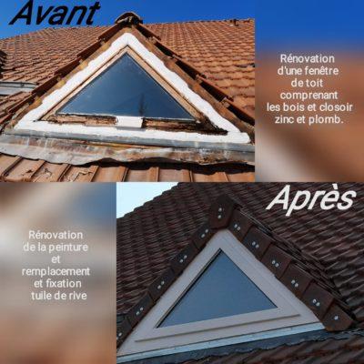 rénovation de fenêtre de toit en bois zinc plomb artisan hortica