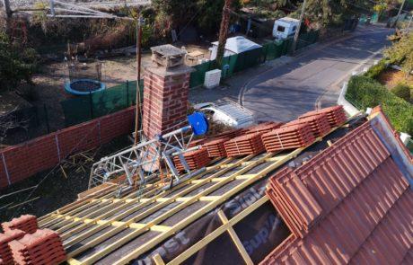 Pose de tuiles toiture Artisan Hortica